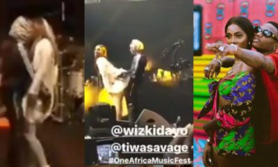 Another raunchy video from the performance of Tiwa Savage and Wizkid's in Dubai