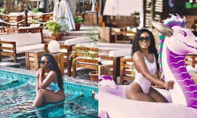BBNaija's Cee-C flaunts her curves in new swimsuit photos
