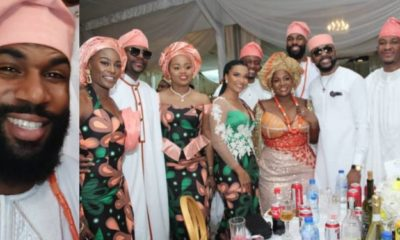 BBNaija's Mike, Dangote, Banky W, Ebuka, & others attend funeral of OAP, Toolz Demuren's father