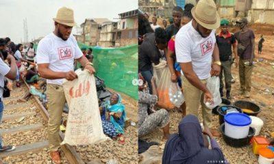 Frodd and Omashola feed 500 less privileged kids (Photos)