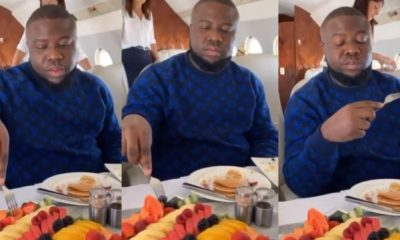 Hushpuppi shares video of himself enjoying life in a private jet