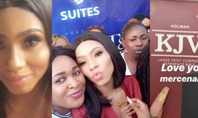 Mercy receives Bible gift from fans during her meet and greet in Abuja
