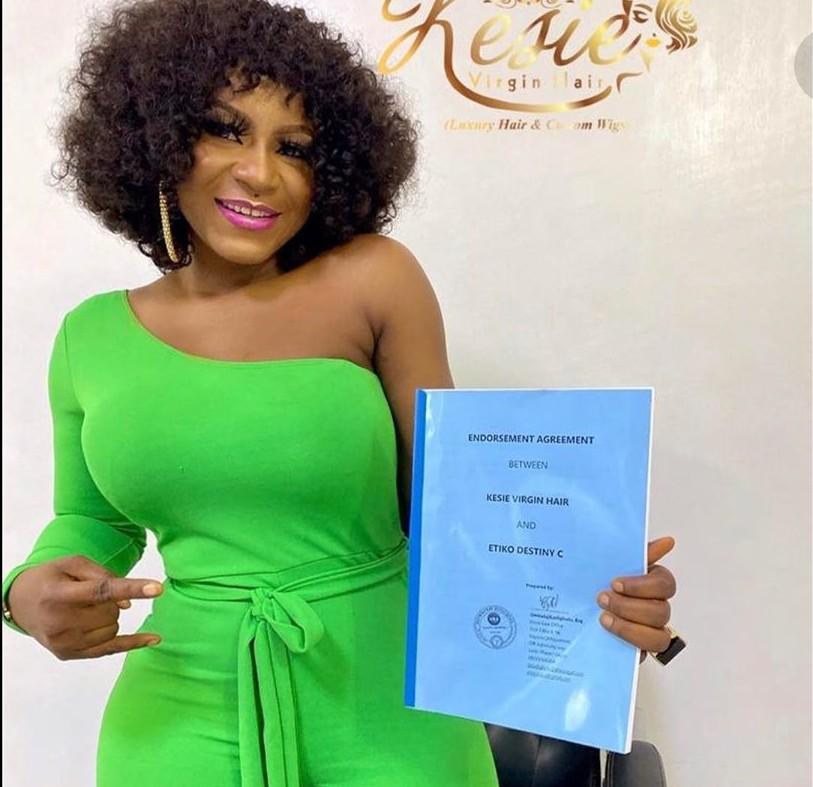 Destiny Etiko signs endorsement deal with Kesie_Virgin hair