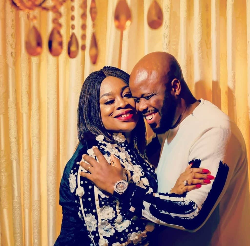 """Thanks for the outpouring of love""- Gospel Singer Sinach says as she shares loved up photo with hubby"