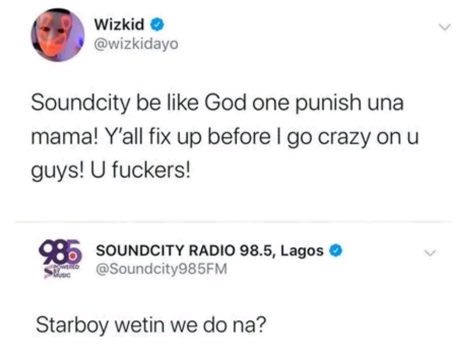 Soundcity panics as Wizkid threatens to go crazy on them