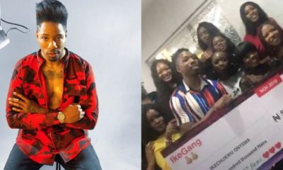 Ike's fans, Ikegang contribute ₦500,000 for their fave (Video)
