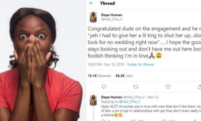 Lady narrates how a male friend proposed to his girlfriend to shut her up