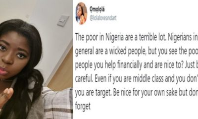Lady says poor people in Nigeria are a terrible lot