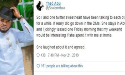 Man narrates ordeal with Abuja lady that refused to leave his house after visiting