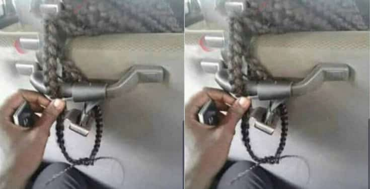 Man ties lady's braids in a bus for refusing to give him her phone number
