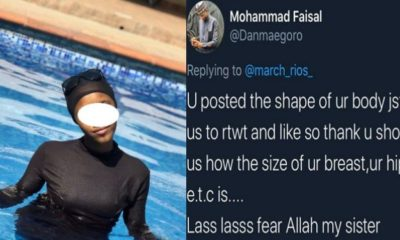 Muslim woman accused of indecency despite being fully covered in a pool