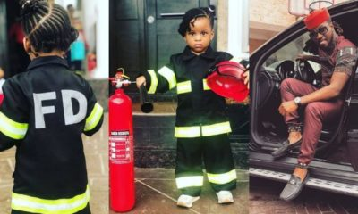 Paul Okoye shares adorable photos of his daughter dressed in 'Fire Department'