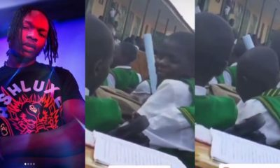 Students seen singing Naira Marley's song on the assembly ground (video)