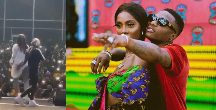 Wizkid touches and squeezed Tiwa Savage's bumbum in Dubai (video)