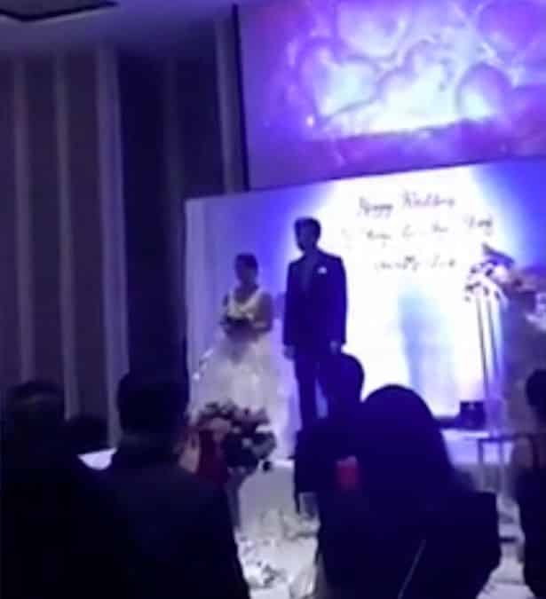 Groom plays video of cheating Bride in bed with her