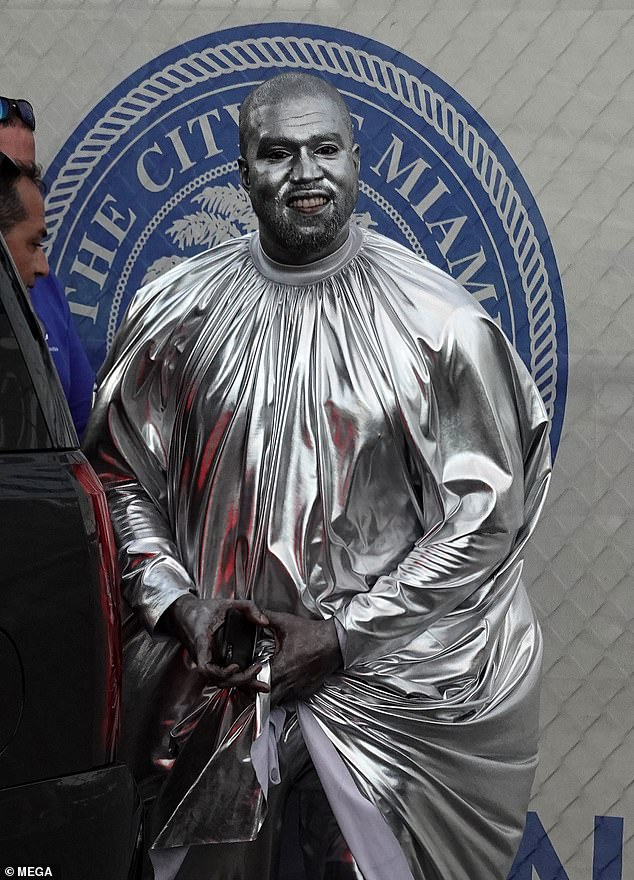 Kanye West covers entire body in silver for new opera, 'Mary' (photos)