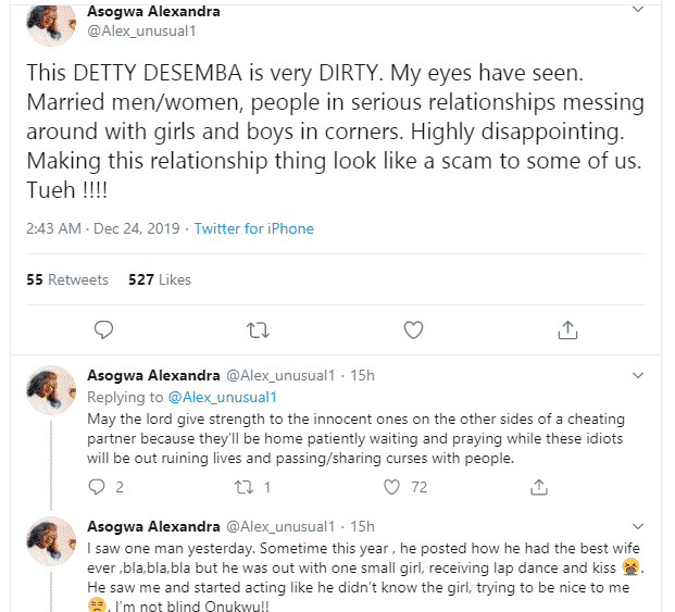 BBNaija's Alex calls out man who secretly cheats on his wife