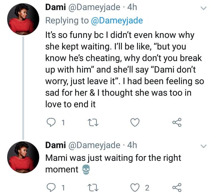 Lady dumps her cheating boyfriend after waiting till he fulfilled his promise