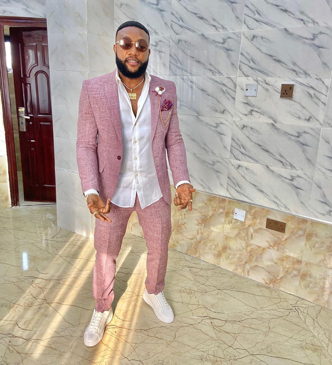 Kcee shares videos of his newly built mansion in Anambra State