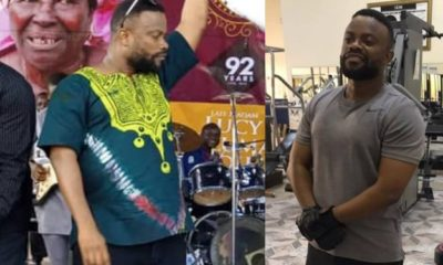 Actor Okon Lagos called out for 'lying' about his weight loss (photos)
