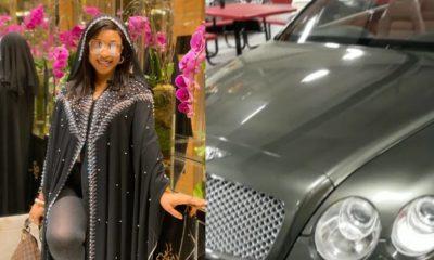 Actress Tonto Dikeh buys herself a Bentley (Video)