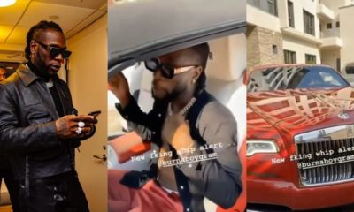 Burna Boy Buys A Rolls Royce Worth $346,000 (video)