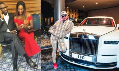 DJ Cuppy takes delivery of a Rolls Royce for her billionaire dad, Femi Otedola