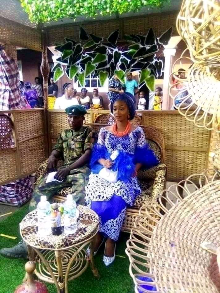 Military man refuses to wear traditional attire for marriage rites (Photos)
