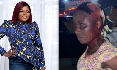 Funke Akindele cries out as security guard breaks woman's head (video)