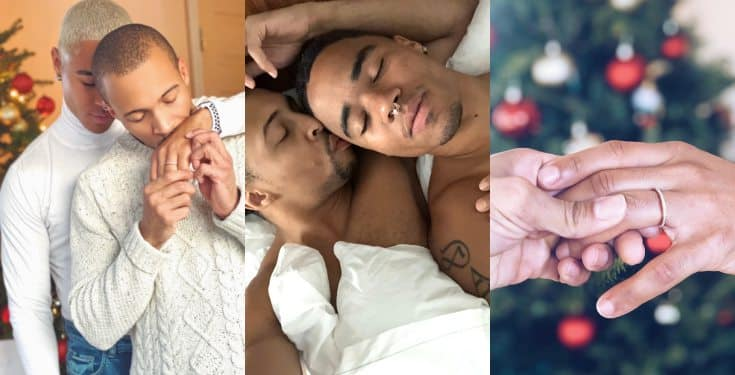 Gay couple's engagement photos go viral