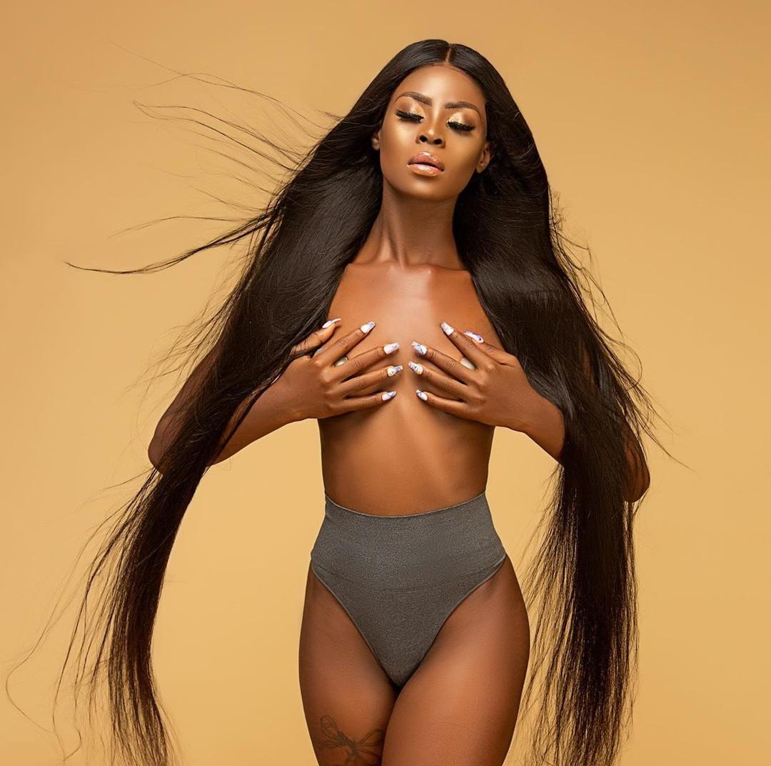 BBNaija's Khloe goes braless as she announces endorsement deal with Lishashair