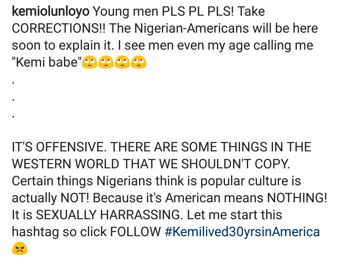 """""""Never call a woman 'babe' unless you are dating her""""- Kemi Olunloyo says"""