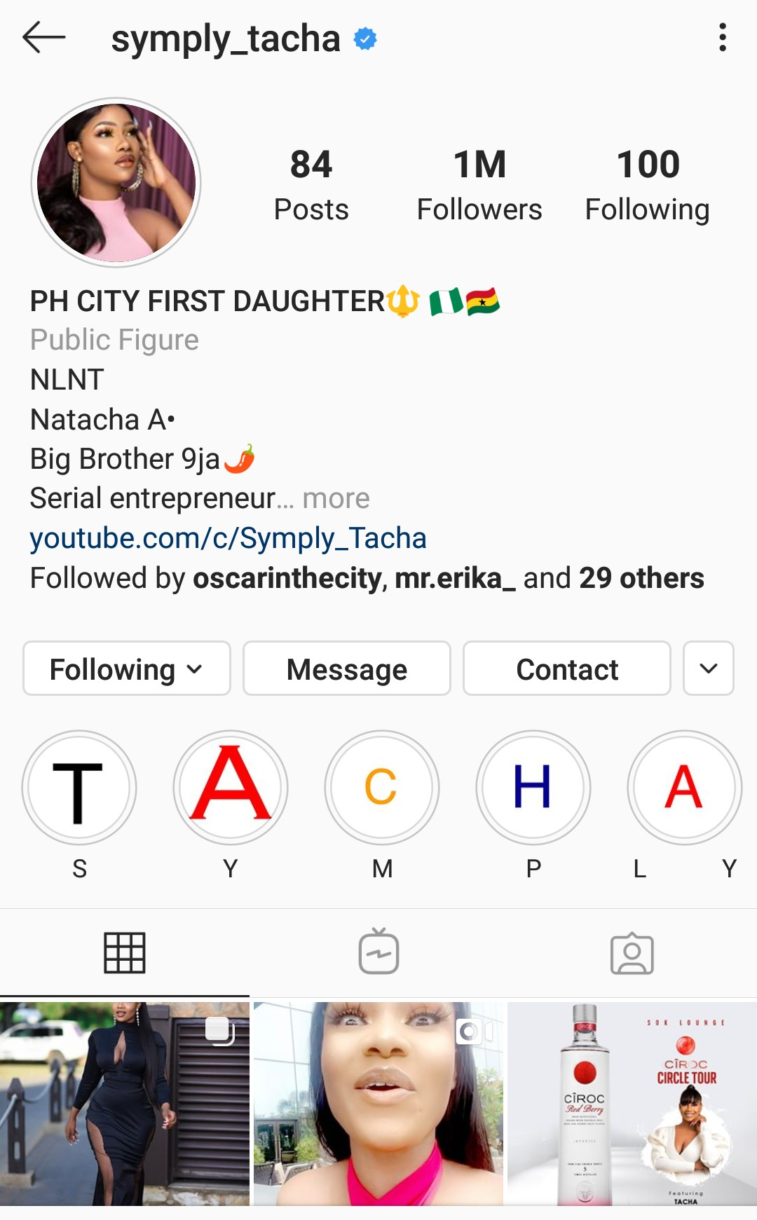 BBNaija: Tacha becomes first 'Pepper Dem' housemate to hit 1m followers on IG