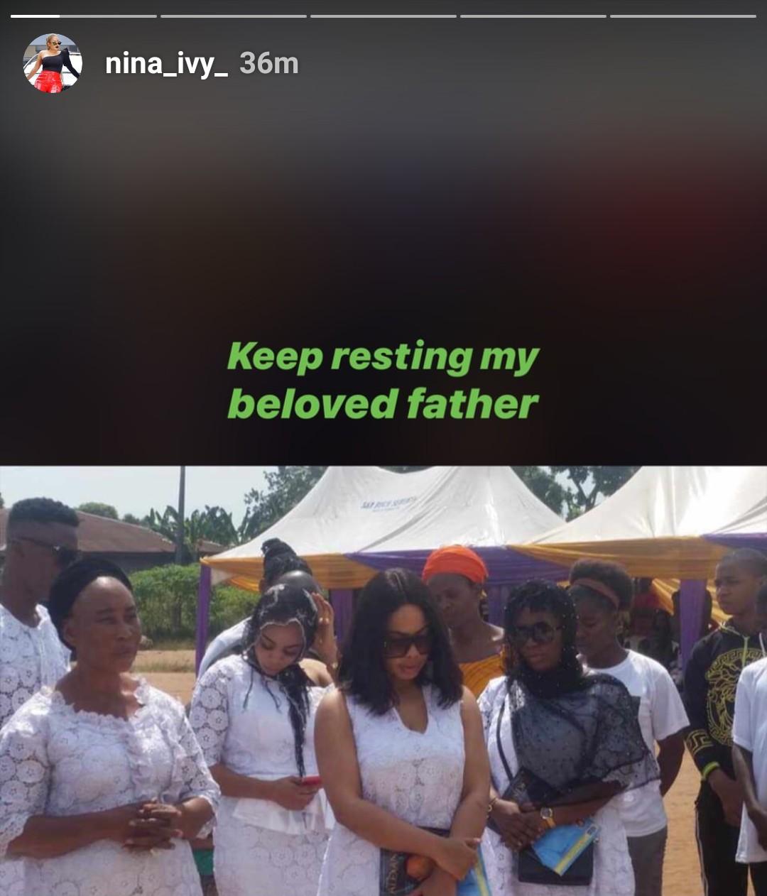 BBNaija star, Nina Ivy buries father (Video)