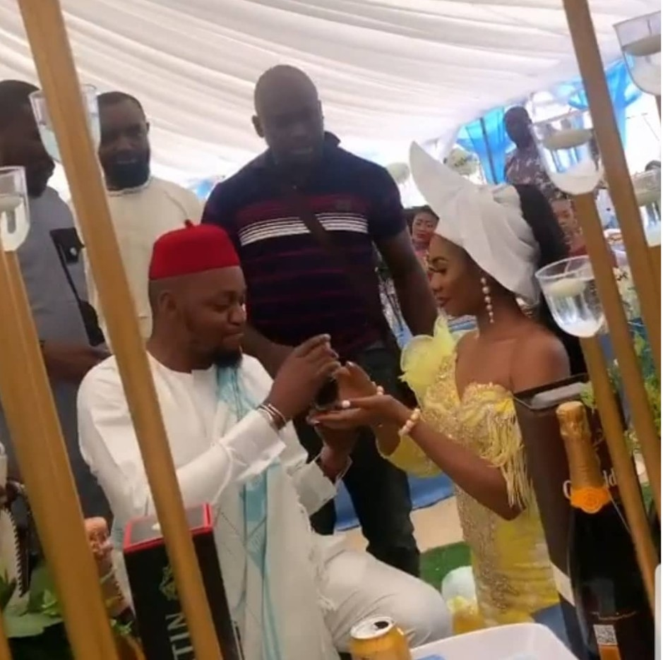 Photos and video from Instagram Twerk Queen, Jane Mena's traditional wedding