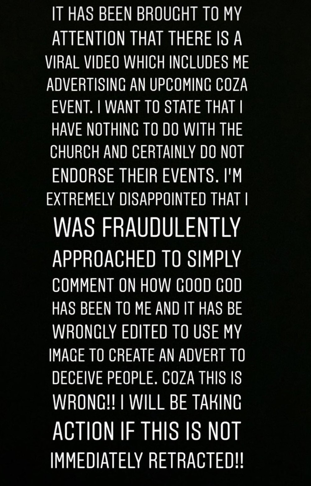 """""""I am extremely disappointed, COZA This is wrong""""-  Tiwa Savage threatens to sue Fatoyinbo, COZA"""
