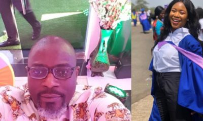 Journalist Temisan Okomi celebrates as lady he helped pay JAMB fees graduates with first class