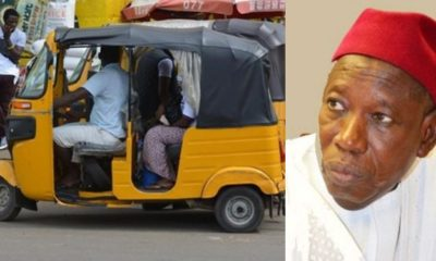 Kano governor Bans Men And Women From boarding Same Tricycle