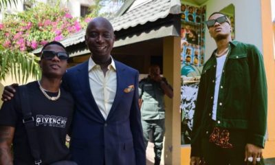 'Keep your wife from Wizkid' - Fan warns Ned Nwoko as he poses with the musician