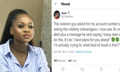 Lady gets emotional after receiving credit alert from stranger