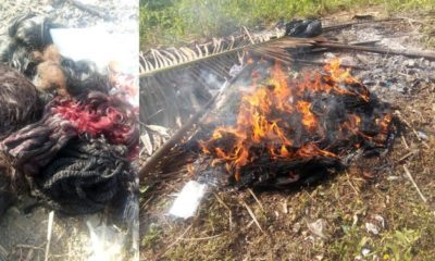 Nigerian Lady Gives Her Life To Christ, Burns Her Makeup Kit, Wigs & Trousers (Photos)