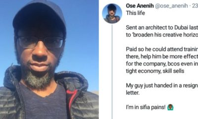 Nigerian entrepreneur narrates how an employee he sent to Dubai for training resigned upon return