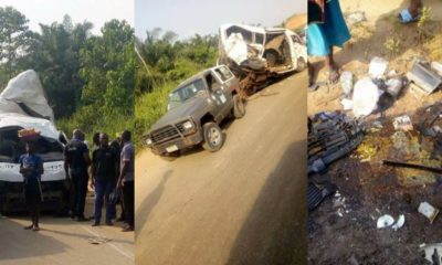 PMT bus suffers accident along the Benin-Ore road (photos)
