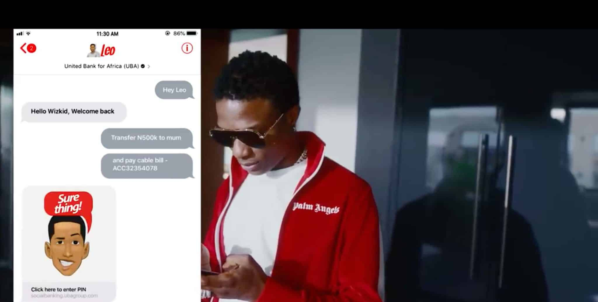 Meet Wizkid's new best friend and personal assistant LEO