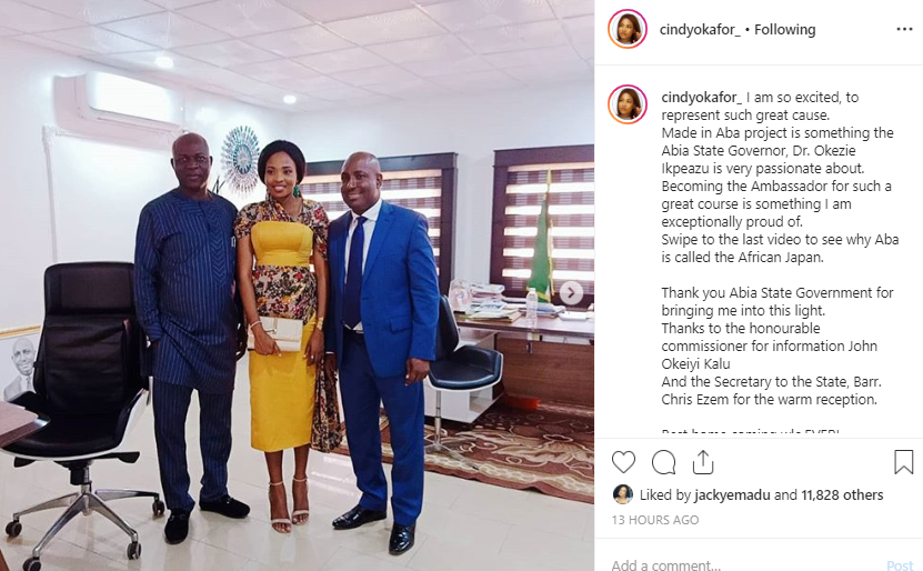 BBnaija's Cindy appointed as an Ambassador by Abia State Government (photos)