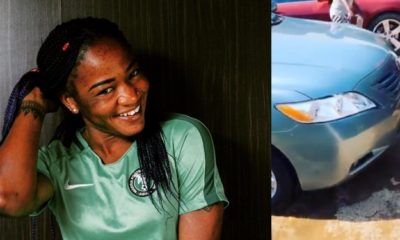 Super Falcons Player, Francisca Ordega Gifts Her Father A Car As Christmas Present (video)