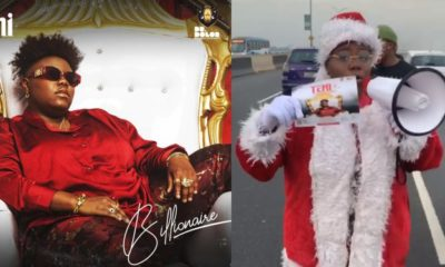 Teni Dresses As Santa Claus To Promote Show In Lagos (Video)