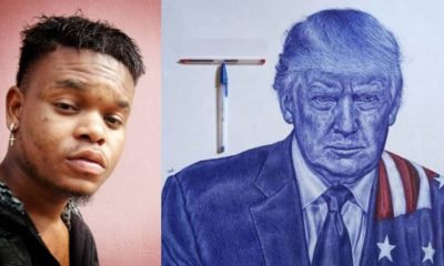 'Trump has boosted my profile' – Nigerian artist, Isaac Oyedele who caught US president's attention with drawing