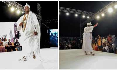 Ooni of Ife spotted catwalking at a fashion show in Lagos