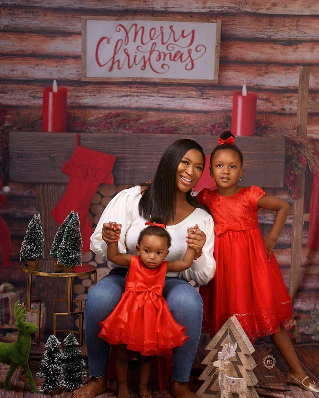 Simi Esiri shares family Christmas card photo without Dr Sid in it